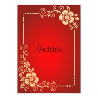 Obra clásica roja del vintage de la invitación