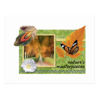 Obras maestras de las naturalezas postal