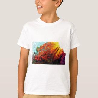 Observación de la pintura del sol camiseta