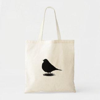 Observación de pájaros del amor de la silueta del bolso de tela