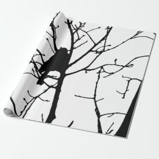 Observación de pájaros del amor de la silueta del papel de regalo