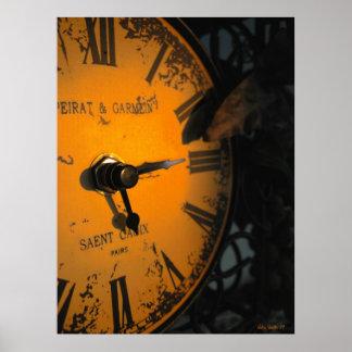 Observación del reloj póster