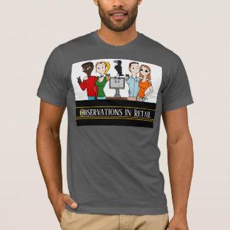 Observaciones en camiseta al por menor del gris de