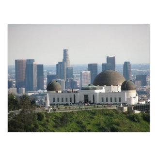 Observatorio de Griffith y Los Ángeles céntrico Postal