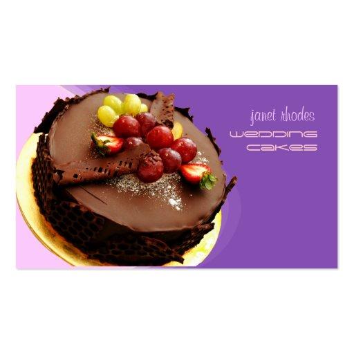 Observe la torta de chocolate que hace estallar, t tarjeta de negocio
