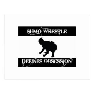 obsesionado con lucha del sumo postal