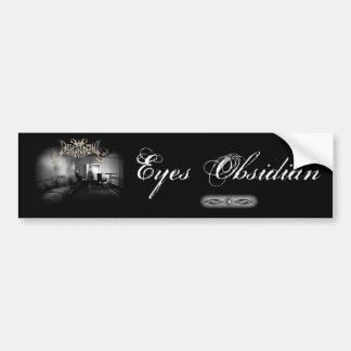 Obsidiana de los ojos pegatina para coche