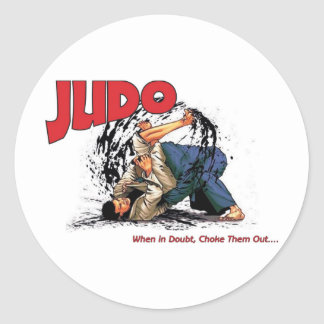 Obstrucción del judo hacia fuera etiquetas redondas