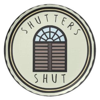 ¡Obturadores cerrados! Plato