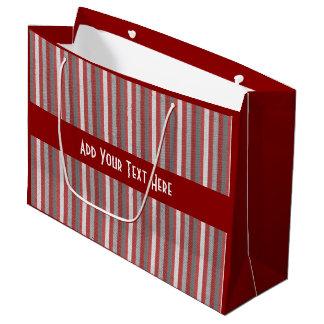 Ocasiones multi personalizadas de las rayas bolsa de regalo grande