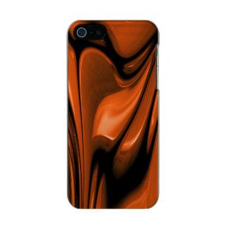 Océano ambarino abstracto carcasa de iphone 5 incipio feather shine