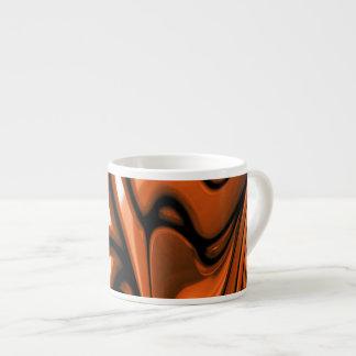 Océano ambarino abstracto taza de espresso