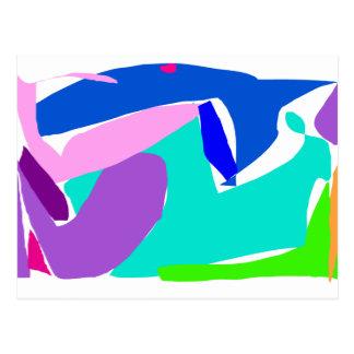 Océano de la lluvia de la orca del delfín del postal