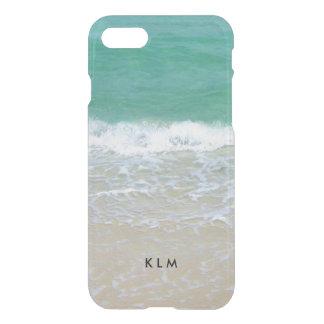 Océano de la playa de Sandy del monograma Funda Para iPhone 7