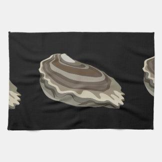 Océano de las ostras de la comida de la paño de cocina