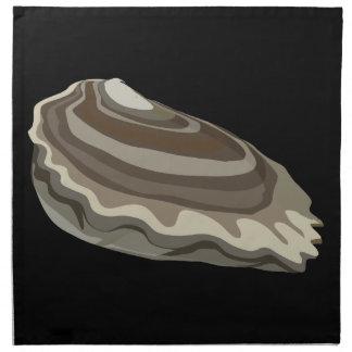 Océano de las ostras de la comida de la servilleta de tela