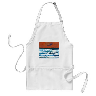Océano de mi decoración del mar de las olas oceáni delantal