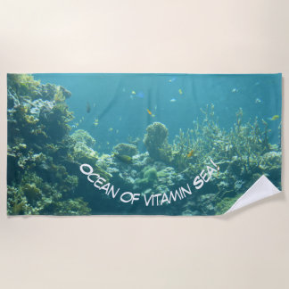 ¡Océano del mar de la vitamina! Toalla de playa