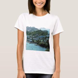 Océano-enclave sereno, en una camiseta