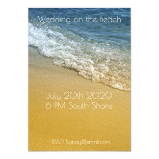 Océano, línea de la playa Sandy de la playa de la Invitación 12,7 X 17,8 Cm