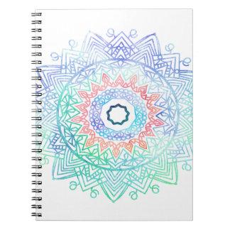 Océano-madala. rosa azul de la aguamarina cuaderno