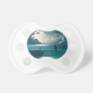 Océano y barcos verdes del trullo chupetes para bebes