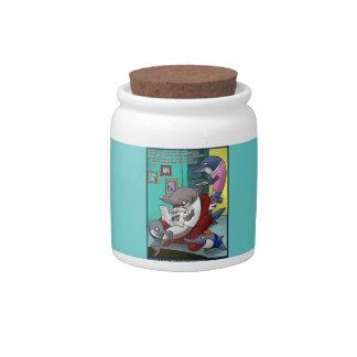 Oceanografía/dibujo animado del calentamiento del  jarras para caramelos