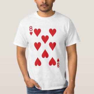 Ocho del naipe de los corazones camiseta