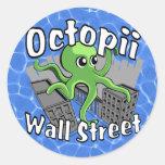 ¡Octopii Wall Street - ocupe Wall Street! Pegatina