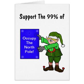 Ocupe la tarjeta de Navidad de la protesta del