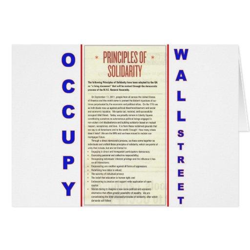 Ocupe los principios de Wall Street de solidaridad Felicitacion
