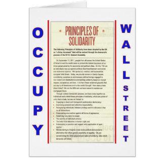 Ocupe los principios de Wall Street de solidaridad Felicitación