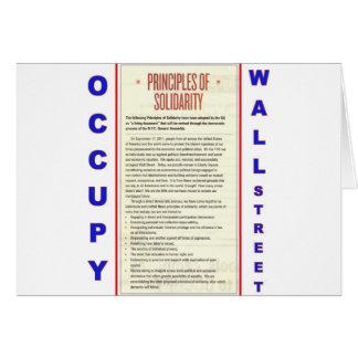 Ocupe los principios de Wall Street de solidaridad Tarjeta De Felicitación