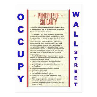 Ocupe los principios de Wall Street de solidaridad Postal
