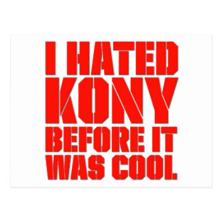 Odié Kony antes de que fuera fresco Postal