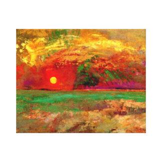 Odilon Redon - la puesta del sol Lienzo
