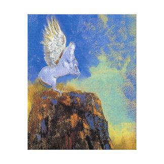 Odilon Redon Pegaso - simbolismo de la mitología Lienzo