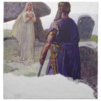 Odin delante de un Völva Servilleta De Tela