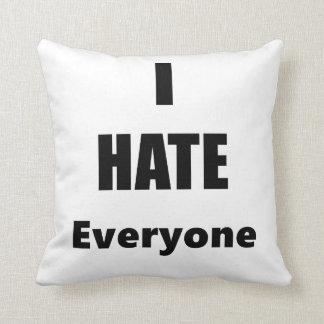 Odio cada uno almohada de tiro