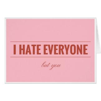 Odio cada uno pero le la tarjeta de la tarjeta del
