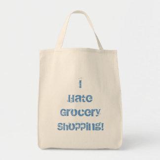 ¡Odio compras! Tote del ultramarinos Bolsa Tela Para La Compra