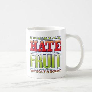 Odio de la fruta taza