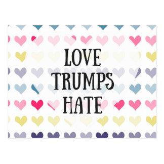 Odio de los triunfos del amor. postal