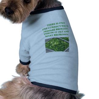 odio el bróculi camiseta con mangas para perro