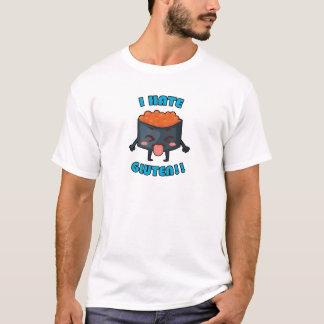 ¡Odio el gluten! Ropa Gluten-Libre de la Camiseta