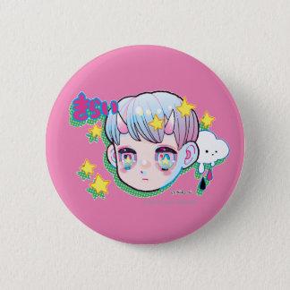 Odio (Kirai) botón redondo de la pulgada de 2 ¼