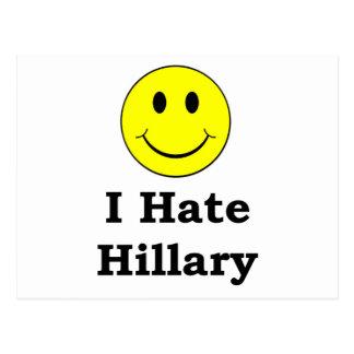 Odio la cara sonriente feliz de Hillary Postal
