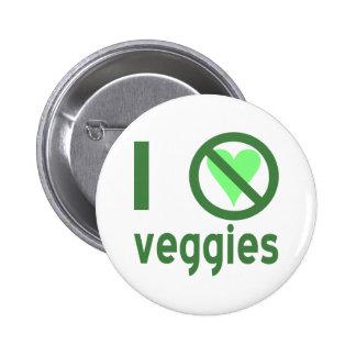 Odio los Veggies Pins