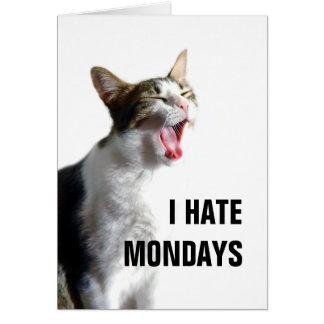 Odio lunes tarjeta