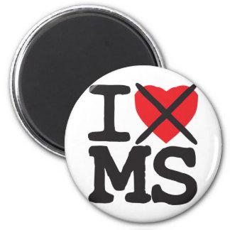 Odio ms - Mississippi Imán Redondo 5 Cm